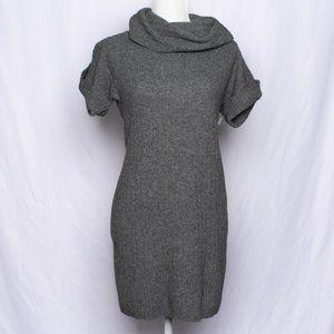 BANANA REPUBLIC Gray Cowl Neck Sweater Dress XS